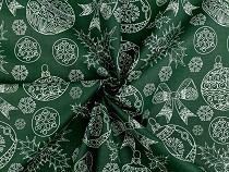 Christmas Cotton Fabric, Ornaments