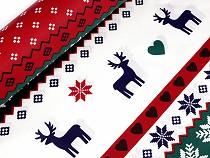 Christmas Cotton Fabric, Snowflake and Deer
