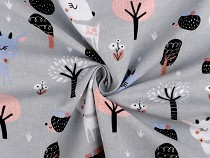 Cotton Flannel Fabric, Deer