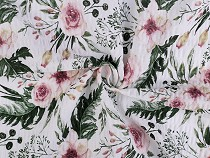 Cotton Crepe Fabric, Rose