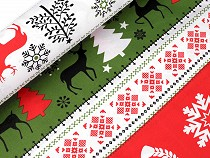 Christmas Cotton Fabric, Deer
