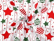 Christmas Cotton Fabric, Ornaments and Stars