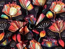 Tissu décoratif Loneta, Coquelicots