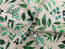 Decorative Fabric Loneta, Leaves