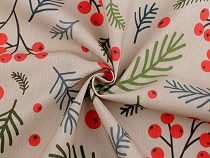 Christmas Decorative Fabric Loneta, Rowan