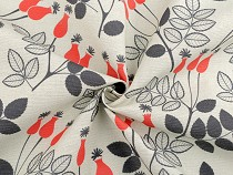 Decorative Fabric Loneta, Rose Hips