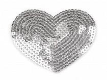 Nažehlovačka srdce s flitry