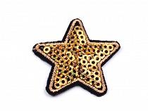 Ruhára vasalható folt flitteres csillag