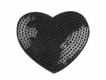 Nažehlovačka  srdce s flitrami