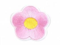 Aufbügler Blume bestickt