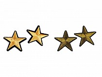 Csillag ruhára vasalható folt arany / ezüst