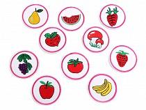 Aufbügler Apfel, Steinpilz, Erdbeere, Melone, Birne