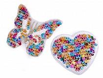 Nažehlovačka srdce, motýl s flitry