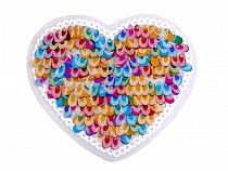 Aufbügler Applikation Herz mit Pailletten