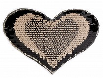 Iron on Patch Heart with Reversible Sequins