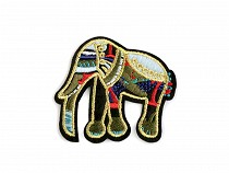Aufbügler Applikation Elefant
