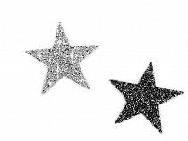 Nažehlovací hvězda s kamínky velká