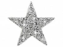 Nažehlovacia hviezda s kamienkami veľká