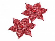 Nažehlovací květ s kamínky Ø62 mm