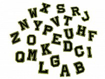 Aufbügler Buchstaben