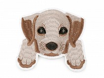 Embroidered Iron-on Patch Dog