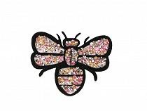 Nažehlovačka včela s kamínky