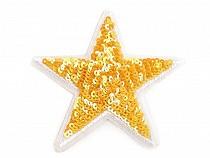 Nažehlovačka hvězda s flitry