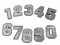 Nažehlovačka čísla s flitry