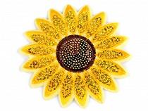 Aplicație termoadezivă - floarea soarelui cu paiete