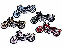 Iron-on Patch Cat Motorbike