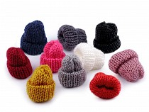 Aplicație textilă căciulă tricotată