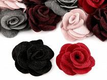 Faux Fur Fabric Decorative Flower / Rose Ø50 mm