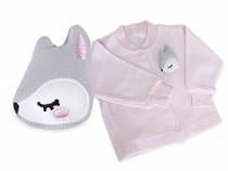 Aplikacja tekstylna z piszczałką kotek, gwiazda, sarenka