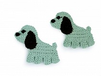 Crochet Textille Applique / Iron-on Patch Dog