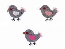 Empiècement brodée/Patch à coudre Oiseau