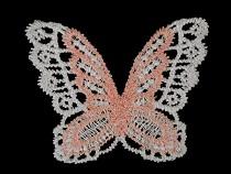 Aplikacja tekstylna koronkowa motyl