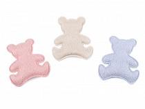 Doppelseitige Textilapplikation / Teddybär-Kunststoffapplikation zum Verzieren