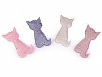 Aplikacja tekstylna / naszywka plastyczna kotek do ozdabiania