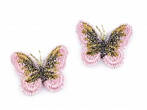 Textile Applique / Sew-on Patch Butterfly with Lurex