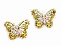 Aplikacja wyszywana motyl z lureksem