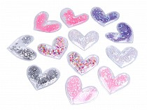 Heart Applique filled with Sequins