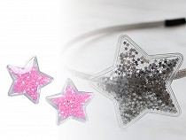 Aplikace hvězda plněná sypanými flitry