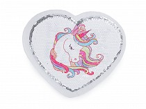 Aplicație cu paiete reversibile Unicorn / Happy Day