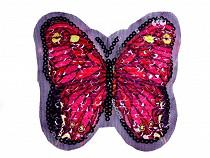 Aplikácia motýľ s obojstrannými flitrami