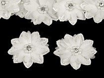 Blüte / Blume mit Perlen Ø50 mm