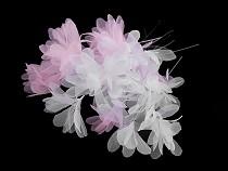 Monofilové svatební květy na silonu délka 16 cm