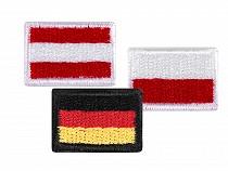 Nažehlovačka mini vlajka - nemecká, rakúska, poľská