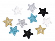 Felvasalható csillag glitterekkel