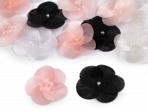 Organza Flower with Bead Ø40 mm