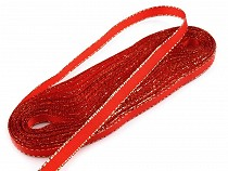 Christmas Taffeta Ribbon width 6 mm with lurex